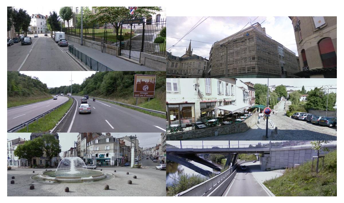 Quelques exemples de vues de Limoges...