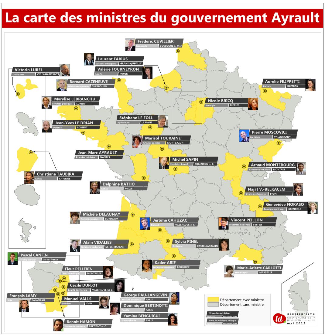 Carte-Ministres-Gvt-Ayrault dans Insolite